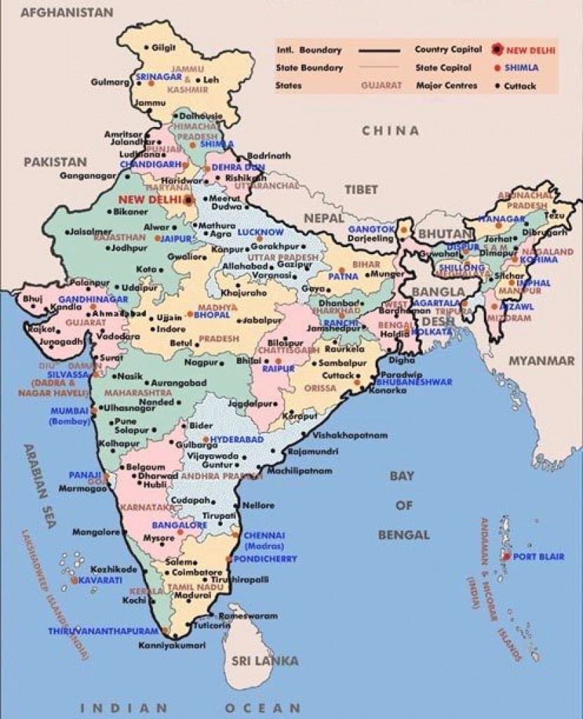 India Cities Map With States And Capitals | Projects To Try with India Map With States And Capitals