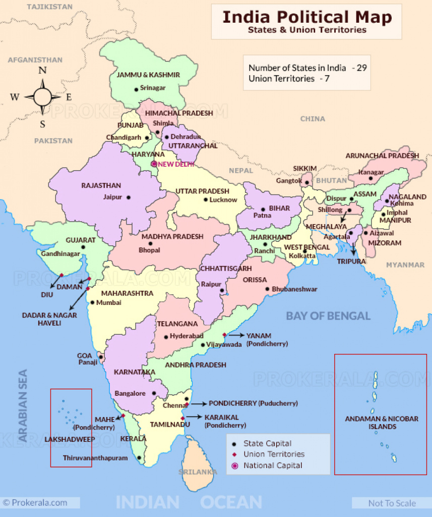 India Map | India Political Map | India Map With States | Map Of India intended for India Map With States And Capitals