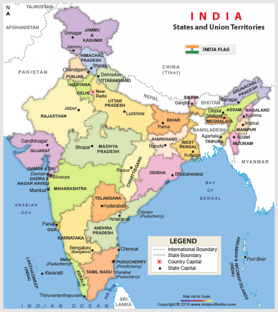 India Map | Map Of India with Map Of India With States And Cities