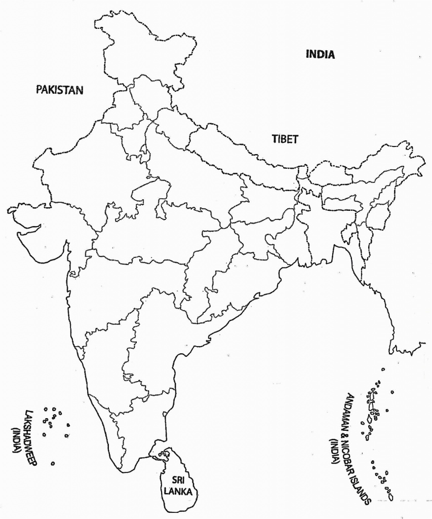 India Map Outline A Size Map Of India With States Asia Outline Map for India Blank Map With States Pdf