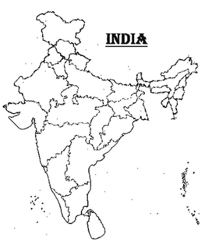 India Map Outline A4 Size with India Blank Map With States Pdf