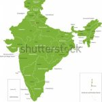 India Map States Capital Cities Stock Illustration 57649909 Intended For Capitals Of Indian States Map