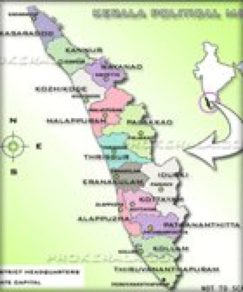 India Maps | Maps Of Indian States | Kerala Map | Download Free Maps in Political Map Of Kerala State