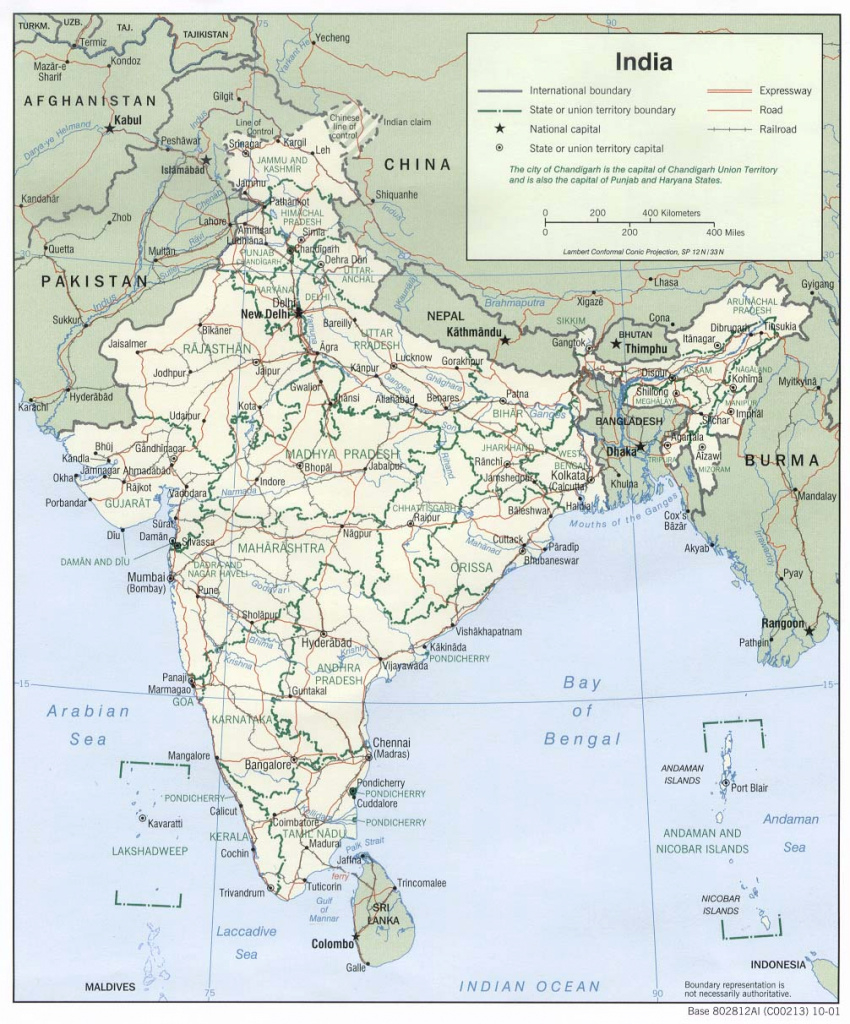 India Maps - Perry-Castañeda Map Collection - Ut Library Online throughout Map Of India With States And Cities Pdf