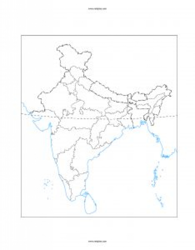 India Political Outline Map ( State Border ) Hd Pdf And Jpeg Free with India Blank Map With States Pdf