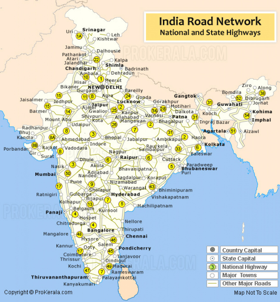 India Road Map | India Road Network | Road Map Of India With pertaining to Map Of India With States And Cities