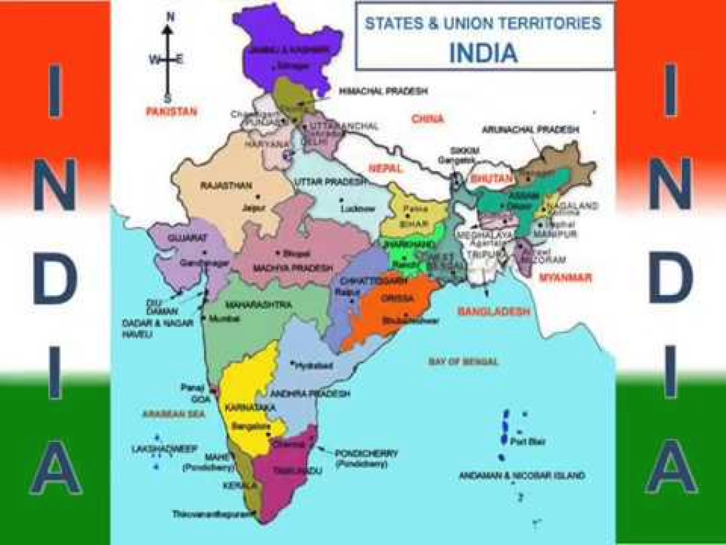 India State And Capital Map | All State Map In India - Youtube with States And Their Capitals Map