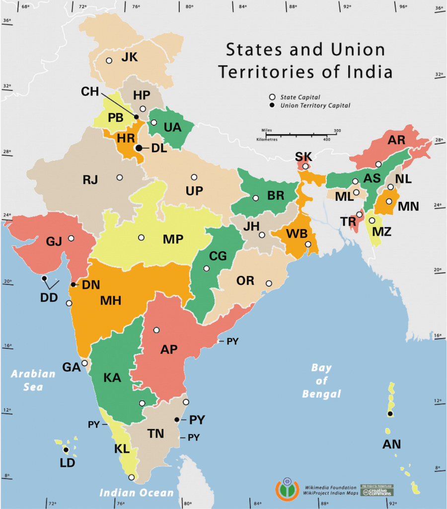 India Statesrto Codes Map - Maps Of India with regard to Map Of India With States And Cities