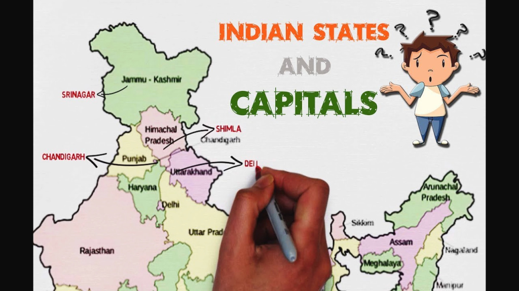 Indian States And Capitals - Explained On Map Of India (Easy To throughout Capitals Of Indian States Map