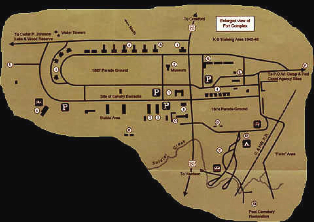 Indian Wars - Fort Robinson pertaining to Map Of Fort Robinson State Park