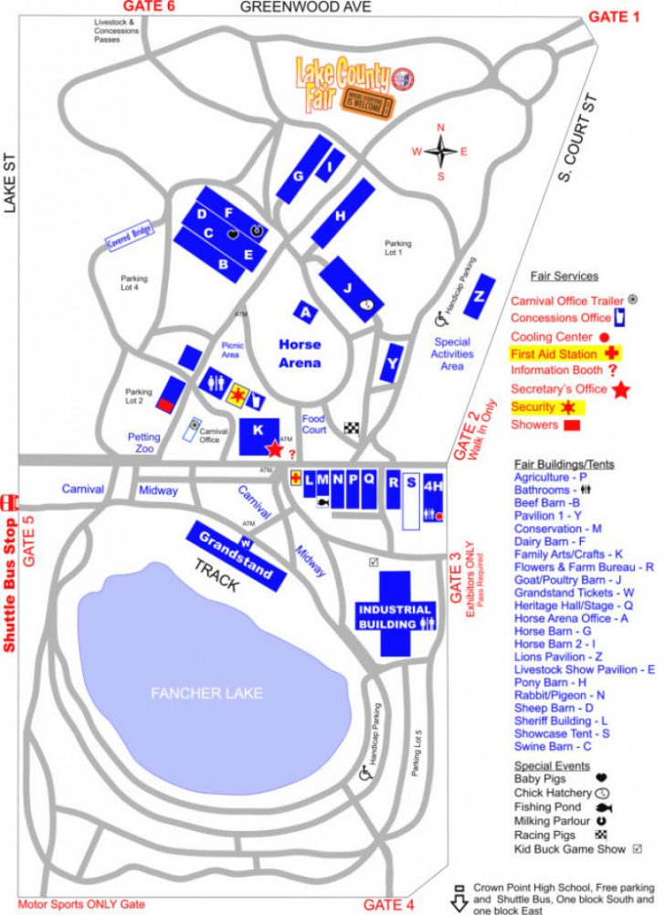 Indiana State Fair Map