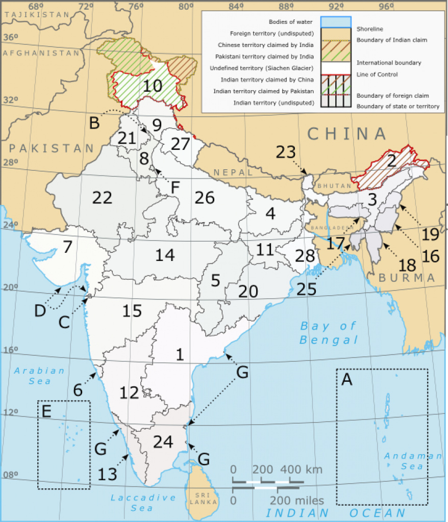 India's States And Union Territories   Hindi Language Blog with regard to India Map With States Name In Hindi