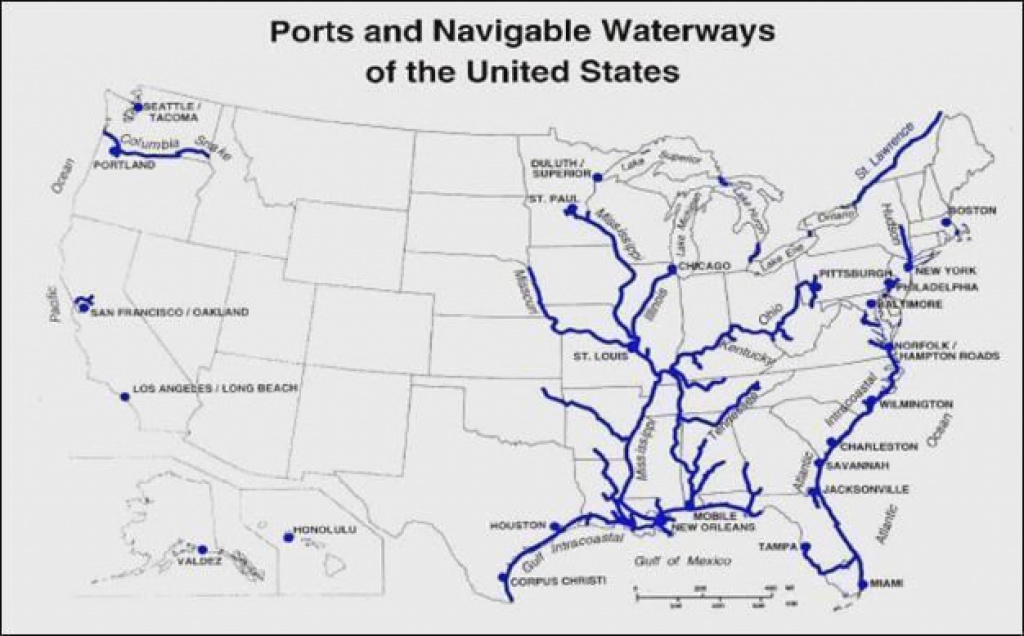 Inland Waterways Of The United States - Alchetron, The Free Social within Navigable Waters Of The United States Map
