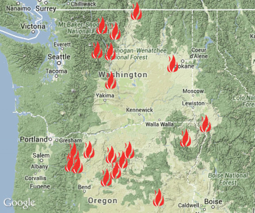 Inslee Says Feds Will Help Restore Power In Fire Zone | Nw News Network inside Map Of The Washington State Fires
