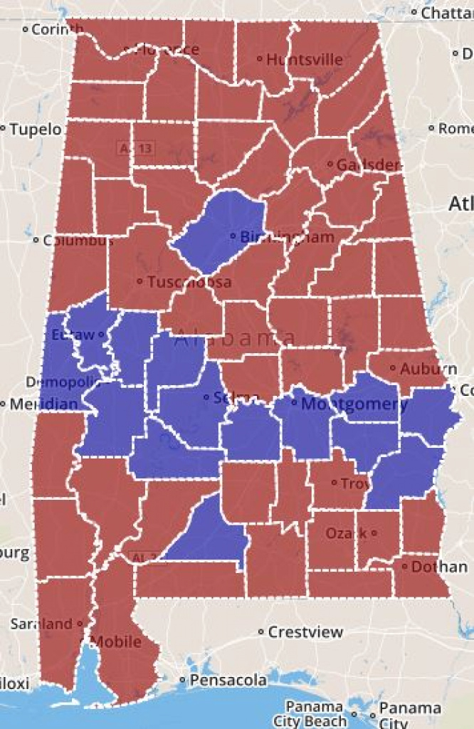 Interactive Maps Of Alabama pertaining to Alabama State Senate District Map