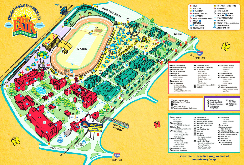 Interactive New York State Fair Map Highlights New, Featured with regard to New York State Fairgrounds Map