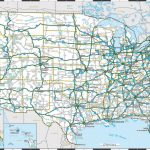 Interstate Highway Map Of United States | Highway Map Of United Regarding Us Highway Maps With States And Cities