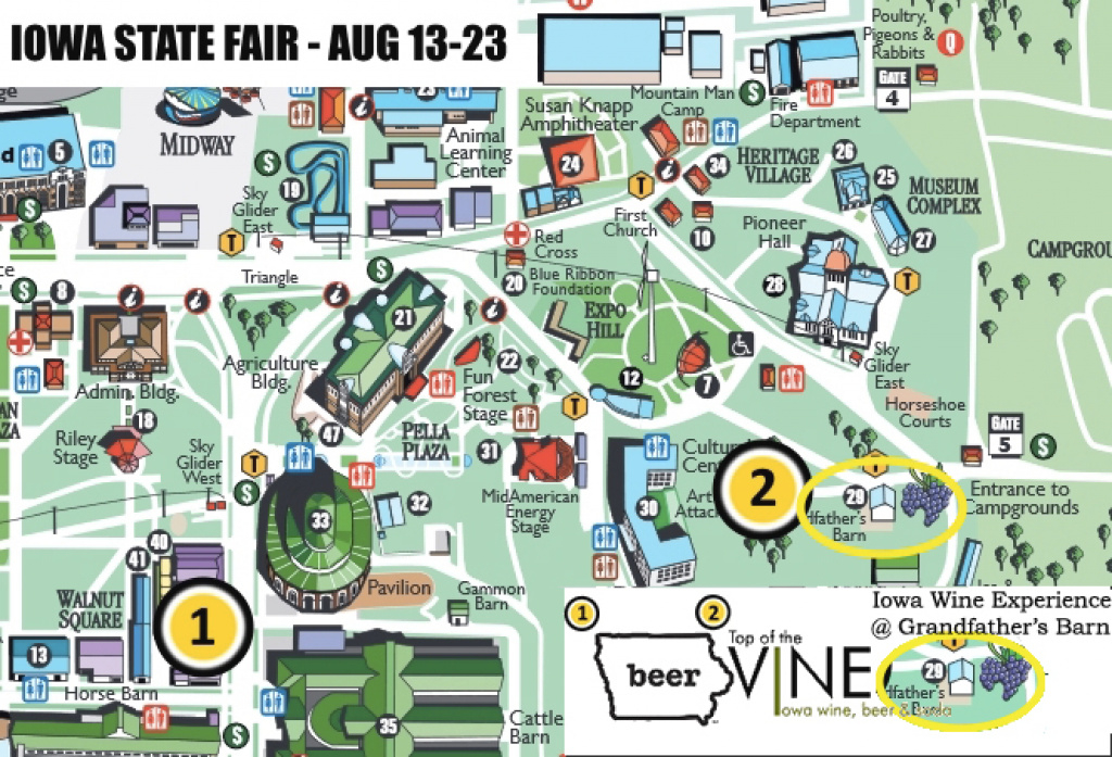 Iowa State Fairgrounds Map – Bnhspine in Iowa State Fair Parade Route Map
