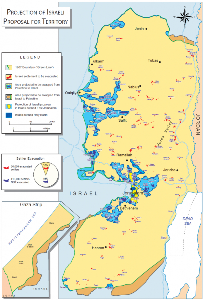 Israeli Settlements, The Barrier Wall And The Two-State Solution inside Palestine Two State Solution Map