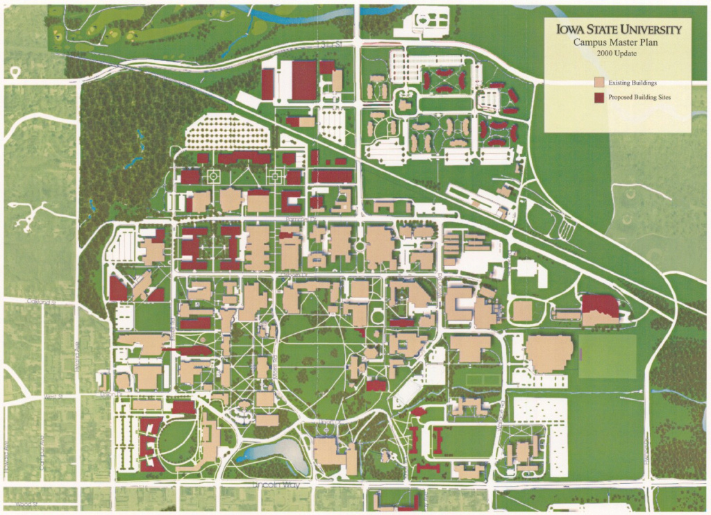 Isu Master Plan: 2000 Supplimental Progess Update intended for Central State University Campus Map
