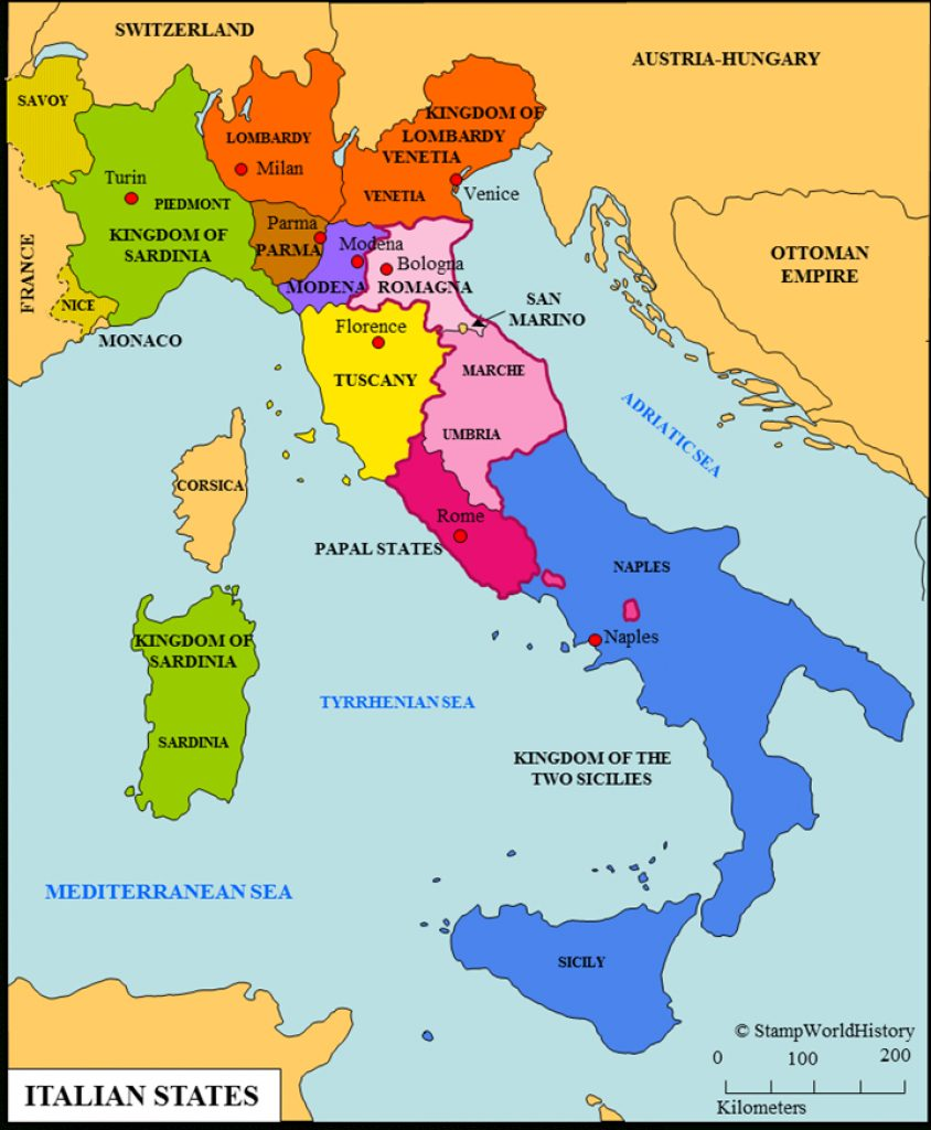 Italian States | 2.4.2.1 | G.o. Maps | Italy | Pinterest Intended For Italian States Map