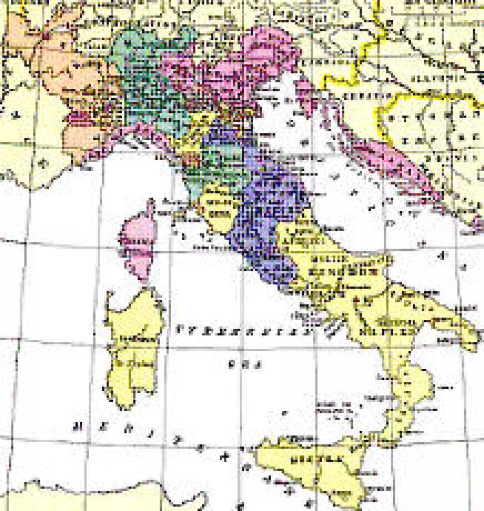 Italian States In The Seventeenth Century regarding Italian States Map
