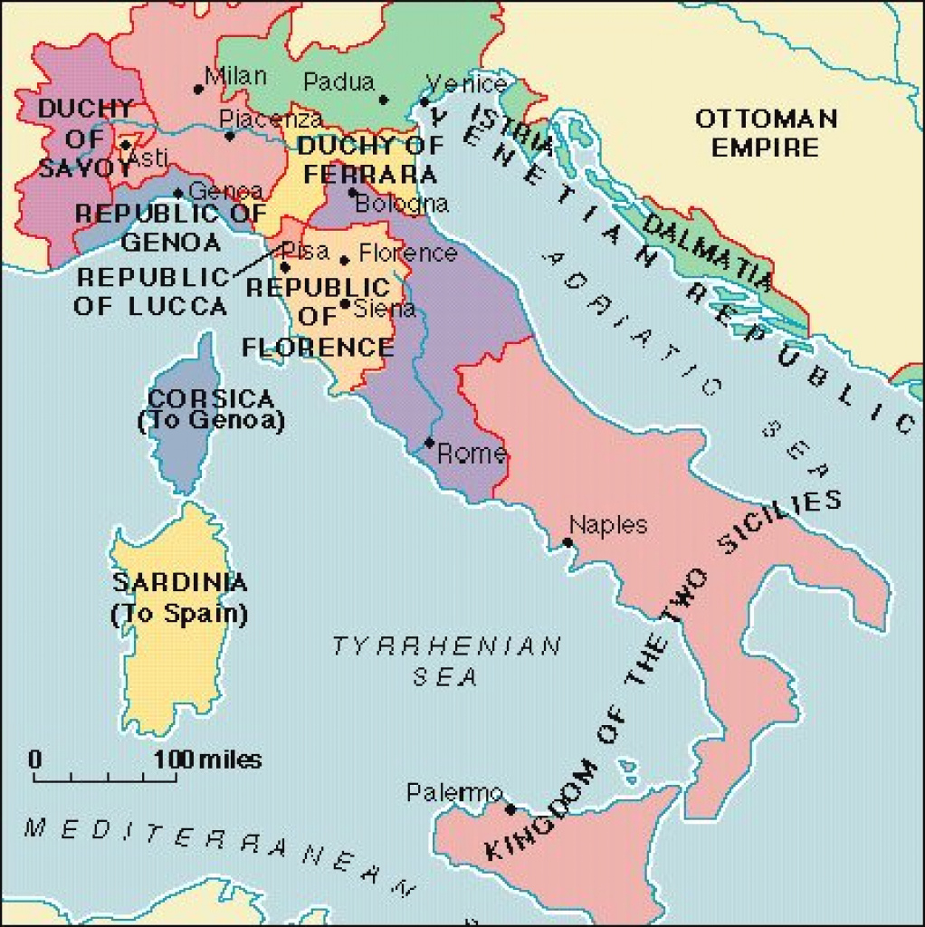 Italy During The Renaissance regarding Italian States Map