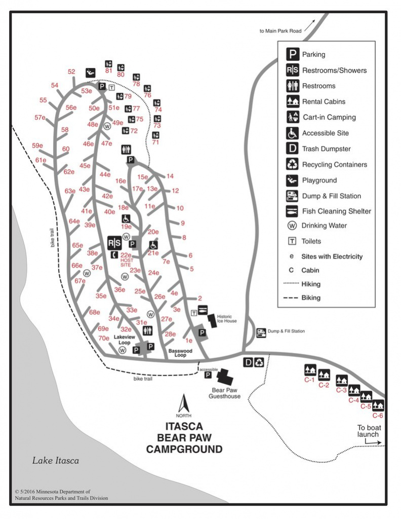 Itasca State Park - Maplets throughout Itasca State Park Trail Map