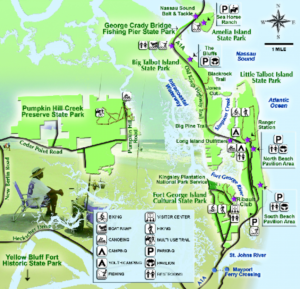 Jacksonville Area Florida State Parks Map - Shady Rest Florida • Mappery within Florida State Parks Camping Map