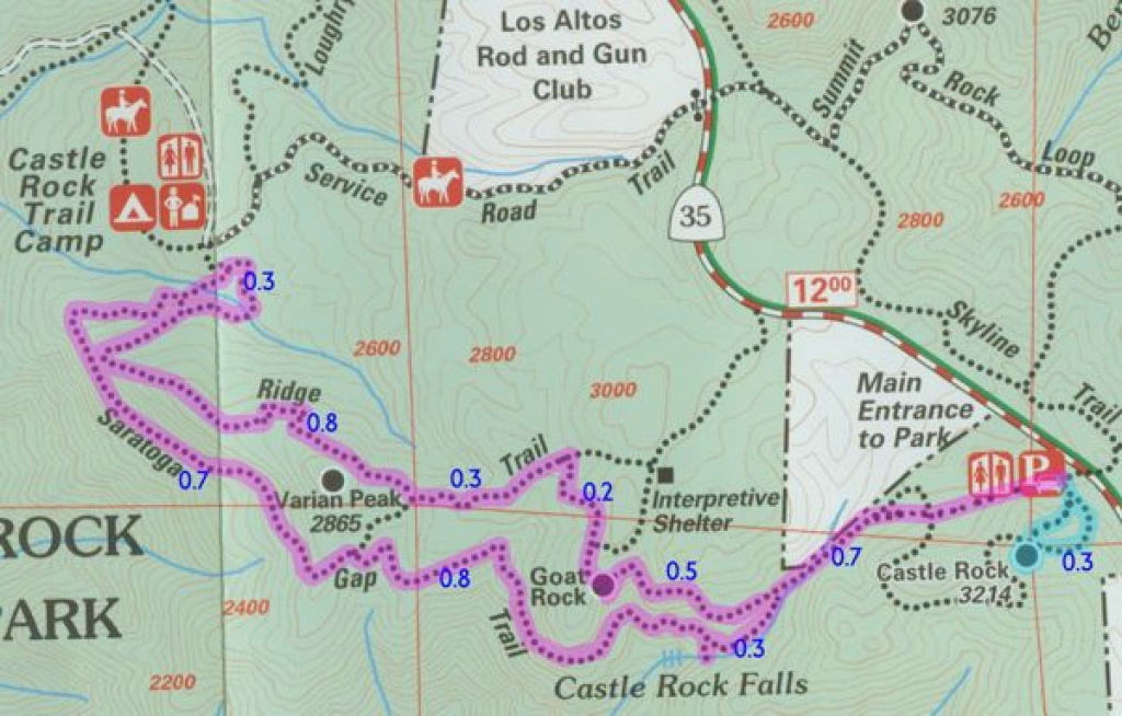 January 3, 2003: Castle Rock State Park within Castle Rock State Park Map