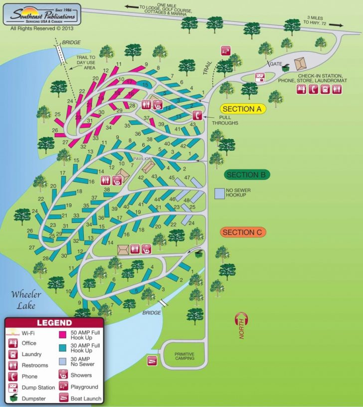 Illinois State Campgrounds Map