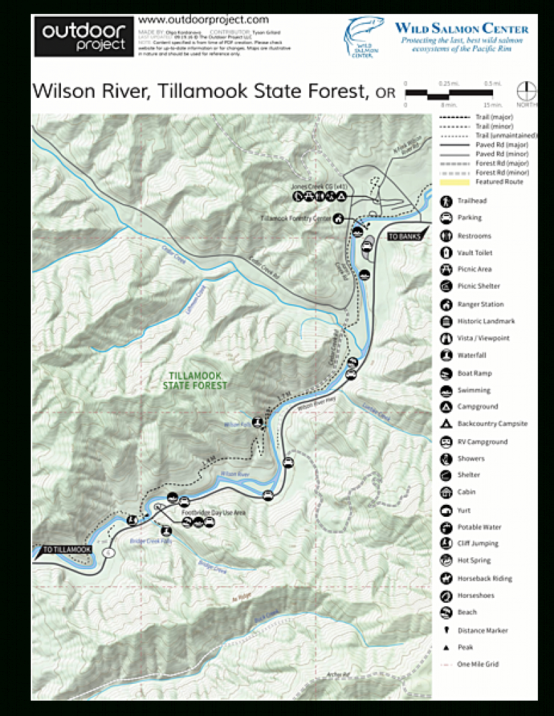 Jones Creek Campground | Outdoor Project in Tillamook State Forest Camping Map