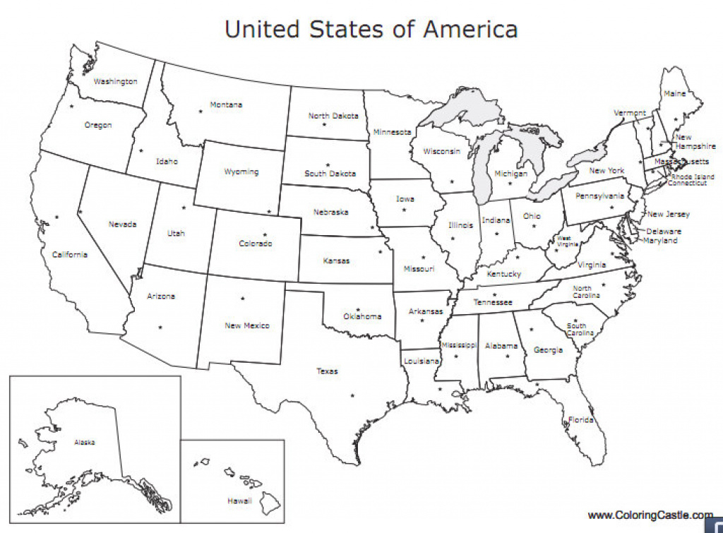Just For Fun: U.s. Map Printable Coloring Pages | Gisetc throughout United States Map Print
