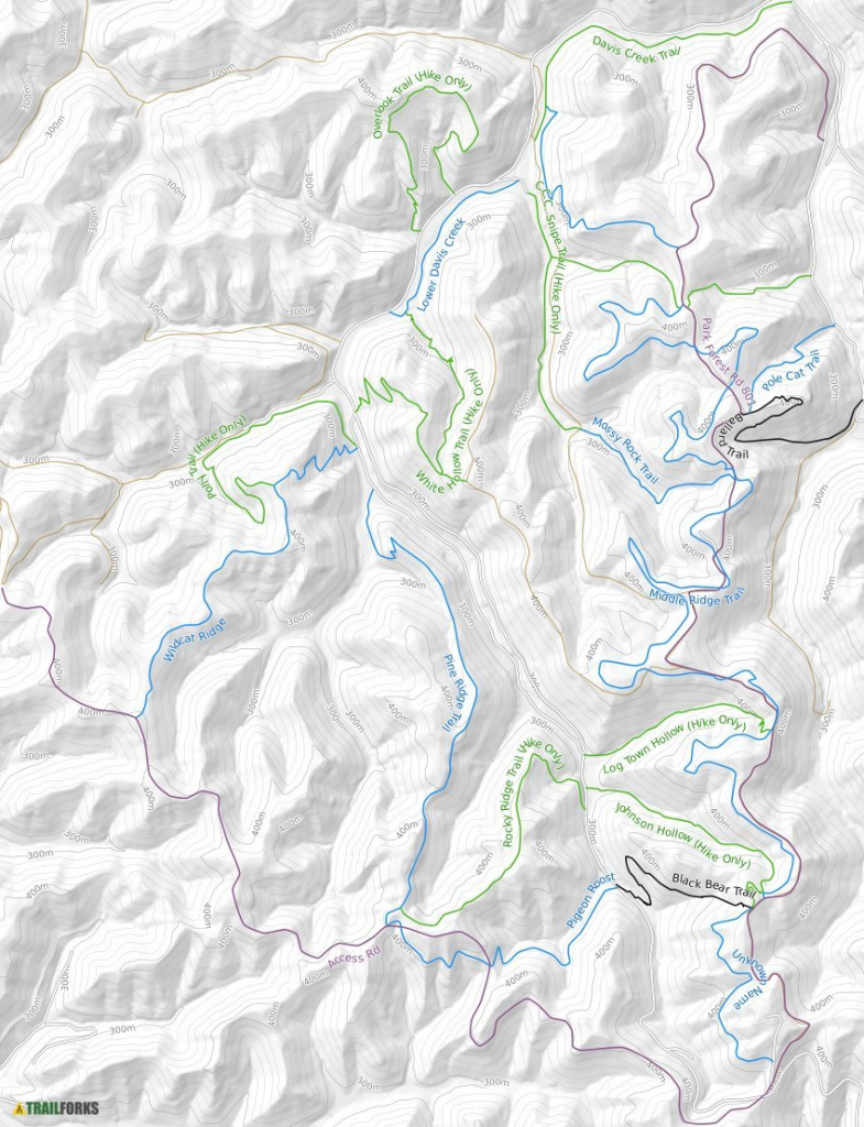 Kanawha State Forest, Charleston Mountain Bike Trails | Trailforks within Kanawha State Forest Hunting Map