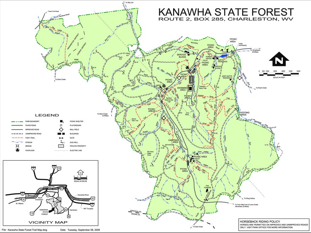 Kanawha State Forest - Maplets pertaining to Kanawha State Forest Hunting Map