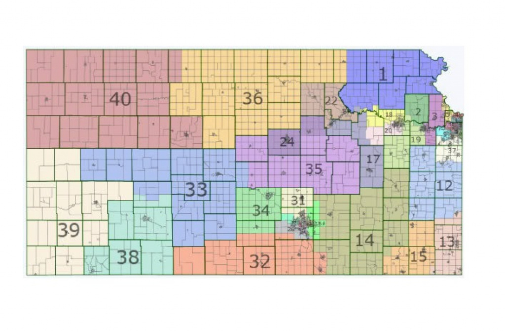 Kansas Caucus: How The Heck Do You Organize A 14-County Caucus in Kansas State Senate Map