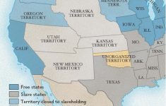 Kansas-Nebraska Act | National Geographic Society with Slave States And Free States Map
