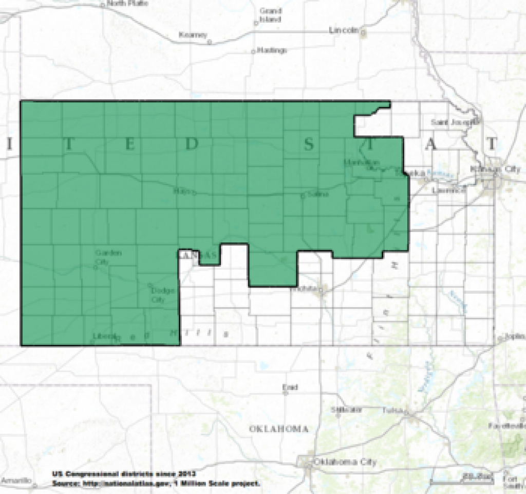 Kansas's Congressional Districts - Wikipedia intended for Kansas State Senate Map