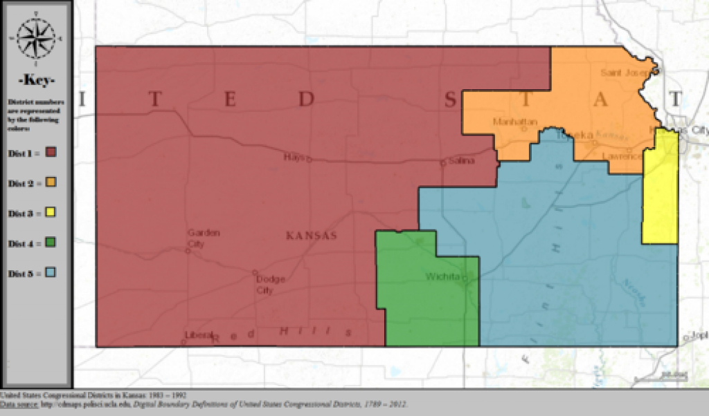 Kansas's Congressional Districts - Wikipedia throughout Kansas State Senate Map