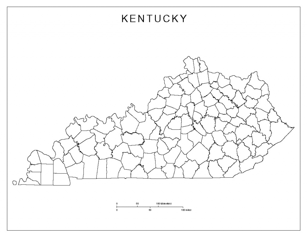 Kentucky Blank Map for Kentucky State Map With Counties