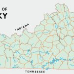 Kentucky Counties With Kentucky State Map With Cities And Counties