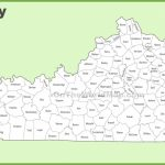 Kentucky County Map Inside Kentucky State Map With Cities And Counties