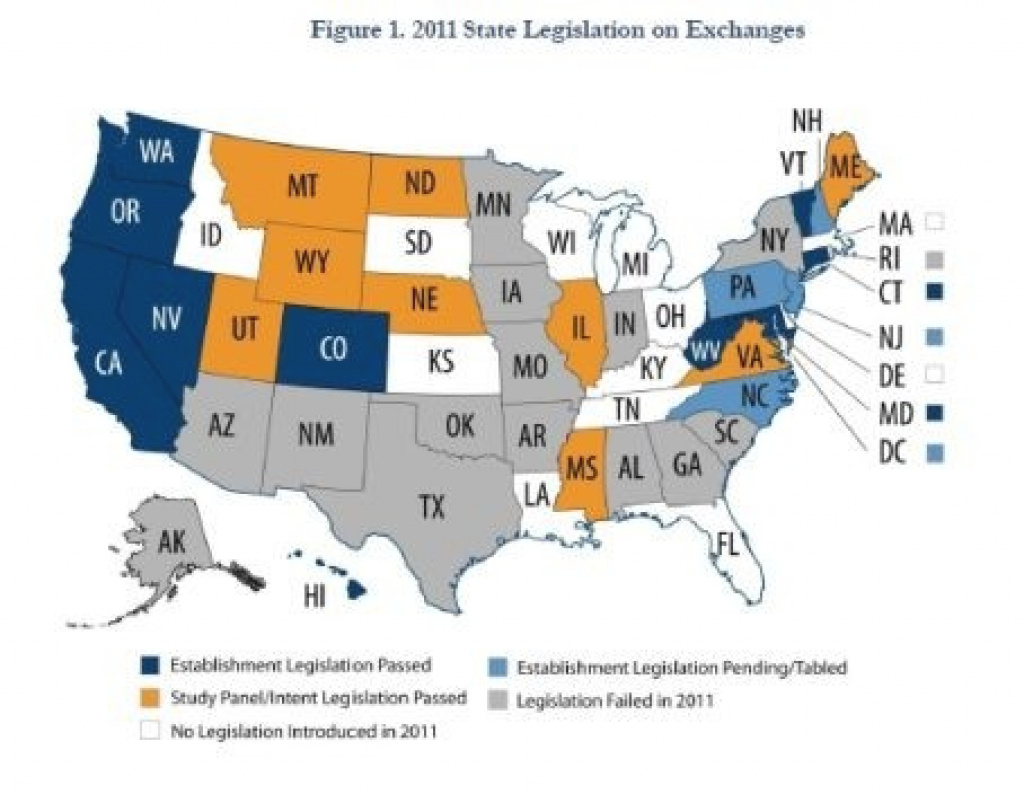 Kentucky Health News: States All Over The Map In Setting Up Health with States With Exchanges Map