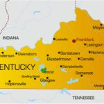 Kentucky Map Of Cities And Travel Information | Download Free Intended For Kentucky State Map With Cities And Counties