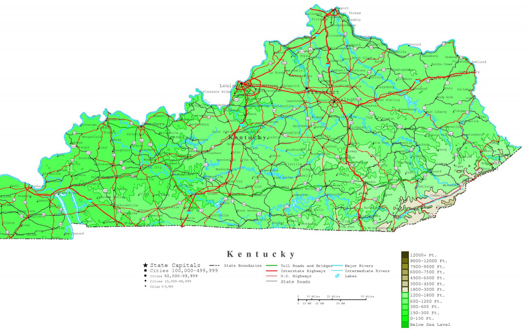 Kentucky Map Of Cities And Travel Information | Download Free pertaining to Kentucky State Map With Cities And Counties