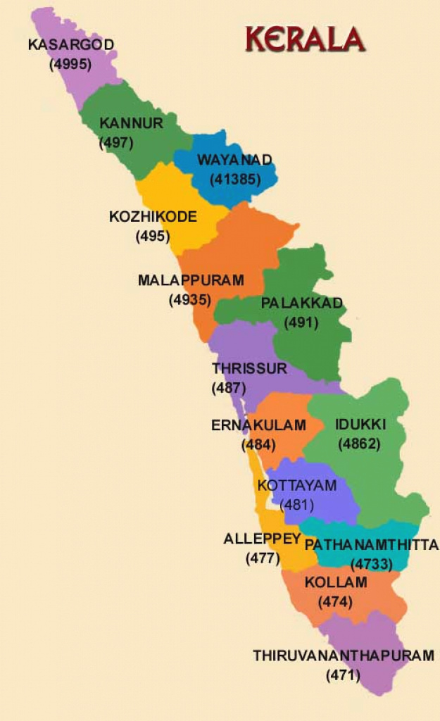 Kerala - Discover Kerala With Visit-India ! inside Political Map Of Kerala State