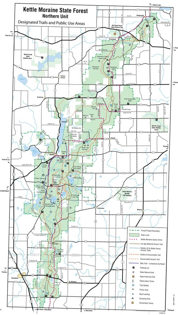 Kettle Moraine State Forest – Northern Unit - Maplets within Kettle Moraine State Park Map