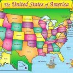 Kid Friendly Map Of The United States   Happyparentsday2017 With United States Map Kid Friendly