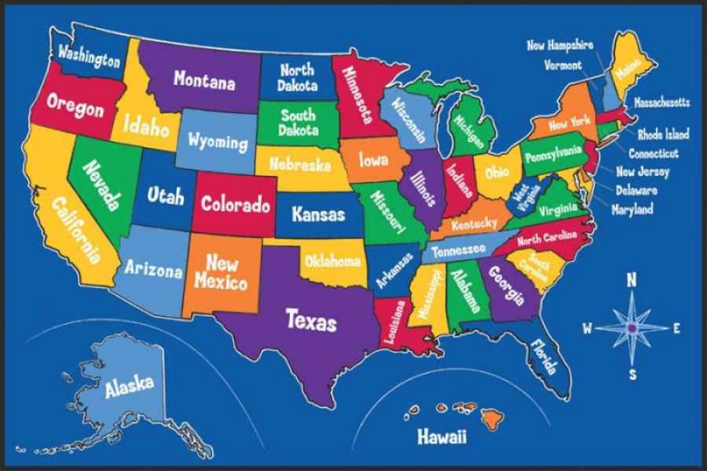 Kids Map Of The United States | Holiday Map Q | Holidaymapq ® pertaining to United States Map For Kids