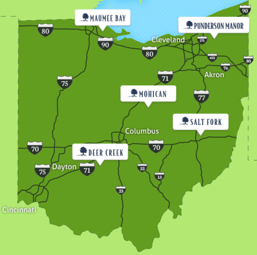 Kids Stay And Eat Free At Ohio State Park Lodges - Inacents throughout Ohio State Park Lodges Map